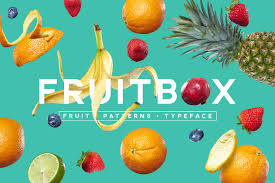 fruitbox font patterns fruit sans serif fonts creative market
