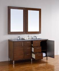 60 Bathroom Vanity Double Sink by Abstron 60 Inch Walnut Finish Double Sink Bathroom Vanity Optional