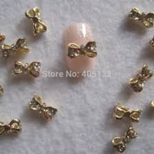 discount 3d gold bow nail art 2017 3d gold bow nail art on sale