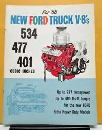 Vintage Ford Truck Brochures - ford truck v8 engines models 534 477 401 sales brochure