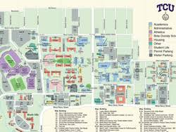 tcu parking map christian and events
