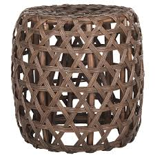 shop safavieh amica brown end table at lowes com