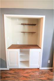 how to add a shelf to a cabinet creating custom built in cabinets the home depot