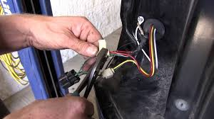 installation of a trailer wiring harness on a 2000 mitsubishi