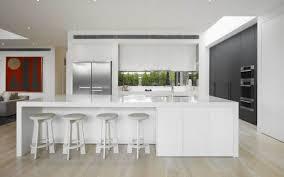 open plan kitchen design in white for clean look white kitchen
