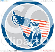 Betsy Ross Flags Clipart Of A Retro Revolutionary Soldier With An American Betsy