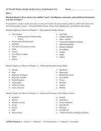 ap world history study guide unit 3 postclassical era name part 1