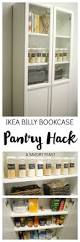 using ikea kitchen cabinets in bathroom ikea billy bookcase pantry hack ikea billy pantry and organizing