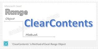 vba clearcontents in excel explained with examples