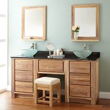 Bathroom Vanity With Makeup Area by Beautiful Wood Sink Vanity Signature Hardware
