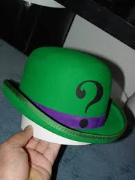 halloween costumes the riddler the riddler u0027s hat and face mask fathers of the dark knight