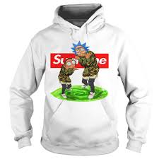 affordable rick and morty supreme hoodie