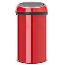 poubelle cuisine 60l brabantia poubelle de cuisine 60l 402487 touch bin