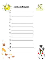 months of the year worksheets for mixed abilities by robyn perry91