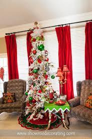 christmas tree bold black red and green make this christmas tree