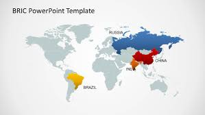 China World Map by Bric Maps Template For Powerpoint Slidemodel