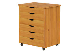 4 Drawer Wood Vertical File Cabinet by Amazon Com Adeptus Wide 6 Drawer Roll Cart Medium Pine Home
