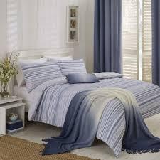 hadlow seersucker stripe blue duvet cover set dove mill