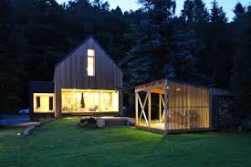 Contemporary Cottage Designs by Non Treated Larch Wood Facade Cladding Modern Cottage Compound