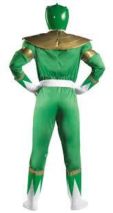 Power Rangers Halloween Costumes Adults Deluxe Green Ranger Muscle Costume Costume Craze
