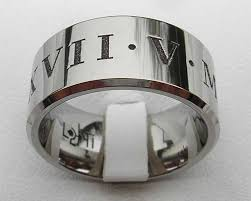 numeral ring mens personalised numerals wedding ring love2have in the uk