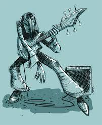 guitarist brian shearer comic art and illustration