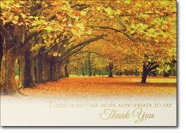 fall foliage thanksgiving card