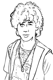 nick jonas coloring pages nick jr coloring pages camp rock