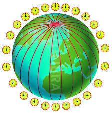 time zones around the world illustration