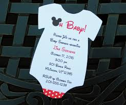 baby mickey invitations cool a baby shower invitationsinvitations design example baby