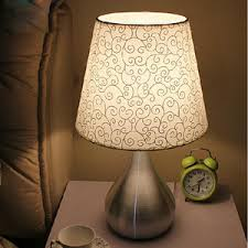 Handmade Table Lamp Handmade Table Lamps Modern Fabric Shade With E27 Lamp Holder