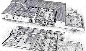 roman floor plan simple plan of a roman villa placement house plans 85531