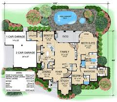 villa floor plan one of a luxury villa 36126tx architectural designs