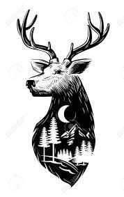 Deer Head by Vector Black Deer Head Icon On White Background Royalty Free