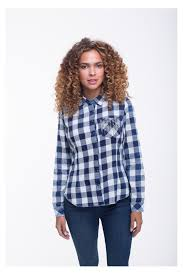 plaid shirt with chains