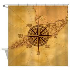 Vintage Nautical Shower Curtain Vintage Compass Rose Shower Curtain By Bailoutisland