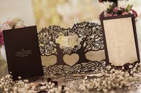 wedding invitation sles wishmade laser cut paper board tree wedding invitation cards