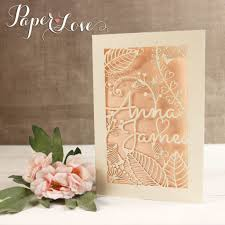 laser cut wedding invitations large intricate grooms names personalised laser cut