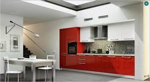 cuisine noir et rouge credence cuisine grise mosaique en aluminium et carrelage pas