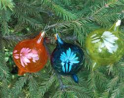 vintage mercury glass ornaments etsy