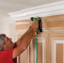 how to add crown moulding to cabinets crown molding for kitchen cabinets homebuilding