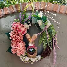spring wreaths for front door easter wreath easter bunny wreath bunny wreath easter bunny