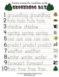 groundhog activities games worksheets kids