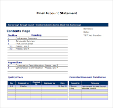 sample account statement template