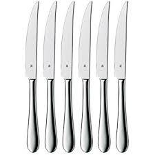 wmf kitchen knives amazon com wmf set of 6 signum stainless steel steak knives