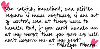 Beautiful Quotes On Love by Marilyn Monroe Quotes And Sayings A Wise About Life