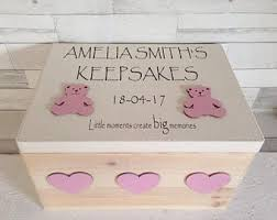 personalized keepsake boxes baby keepsake box etsy