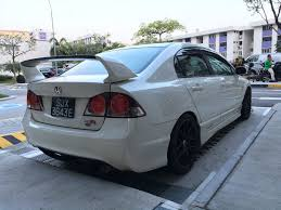 honda civic modified white white honda civic 8th generation with body kit and sport rims