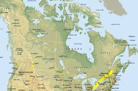 Map Of Canada Map Of Canada Border With Us Ontario E Cdoovision Com