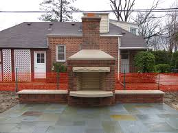 red brick outdoor fireplace fireplace designs